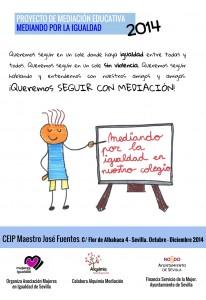Cartel Mediando por la Igualdad 2014